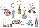 Photo de Meilleur Mélange de Grand Icônes De Londres ROYAUME-UNI Souvenir Ensemble de 9 Métal Porte-clés