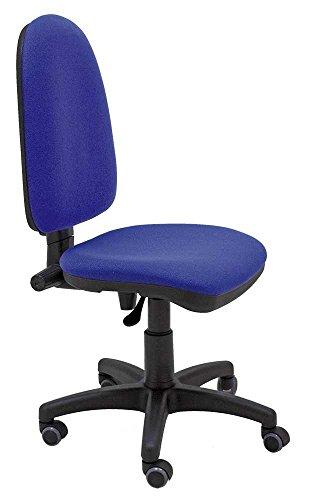 La Silla de Claudia - Silla giratoria de escritorio Torino azul para oficinas y hogares ergonomica con ruedas de parquet