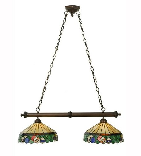"Meyda Tiffany 50675 Lighting, 37"" Length, Green"