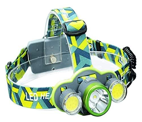 HLD linternas frontales usb LED Linterna LED Linterna Super Bright 5 Modos Casco Lámpara Corriente al aire libre Camping Camping Senderismo Pesca Pesca Lámpara de ciclismo Multifuncional Faro linterna