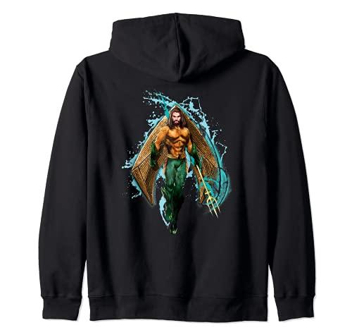 Aquaman Movie Logo with Aquaman Sudadera con Capucha