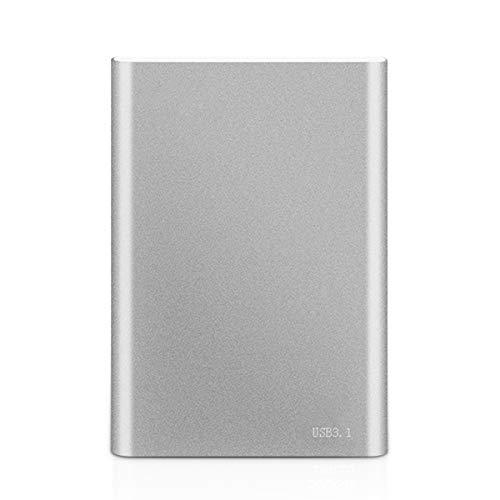Transmisión USB3.0 De Alta Velocidad Disco Duro Externo - Disco Duro Externo Portátil Metal Ps4 para PC, Computadora De Escritorio, Computadora Portátil, Mac, Enchufa Y Juega,Plata,2TB