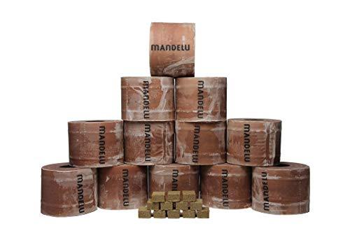Mandelu Wachsrollen 12 Stück mit Anzündwürfeln