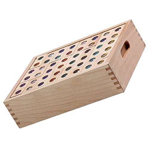 iplusmile モンテッソーリ形状選別機スタッカー木製スタッキングおもちゃ幾何学的形状おもちゃペグパズルボードブロック色スタックとソートのおもちゃ幼児釣りゲーム