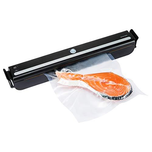 GERYON E1600 Vakuumiergerät, automatische Lebensmittel Versiegelung mit Starter-Kit von Vakuum-Rolle, Vakuum-Beutel und Vakuum-Schlauch für die Konservierung von Lebensmitteln