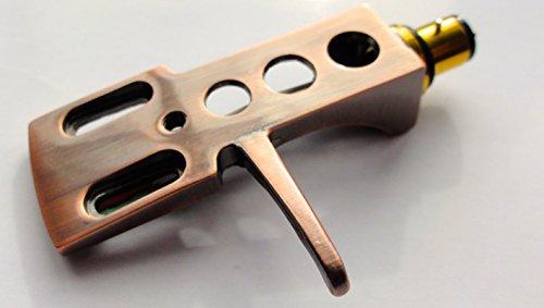 Kupfer versilbert Headshell Kartusche Halterung mit vergoldete Stecker passt die meisten Plattenspieler Tonarme