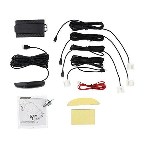 Sharplace Kit Capteur Stationnement Inverse Radar de Recul Voiture Arrière Buzze Parking Sensors - Blanc