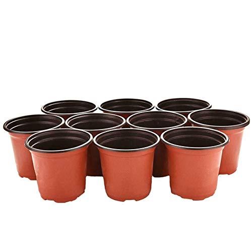 Believewang 100pcs Plante Pots de Fleurs Universal Fleurs Doux pépinière Graines de Stockage Pot de Jardin Décoration