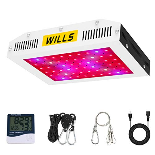 LED Grow Lights, WILLS Upgraded 600W Plant Growing Lamp Full Spectrum with Veg & Bloom Dual Switches LED Grow Light for Indoor Plants Hydroponics Growing