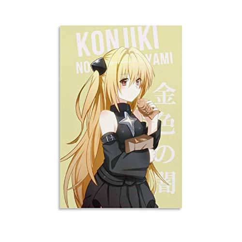 DSGDS 9 To Love Ru Konjiki No Yami Poster auf Leinwand, japanisches Anime-Poster für Schlafzimmer, Wände, ästhetisch, 30 x 45 cm