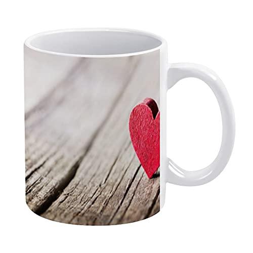 Divertido regalo del día del padre para papá, marido nuevo papá, corazón vermeil fondo regalo de cumpleaños, taza de café, regalo del día de San Valentín, regalo de boda, 15 onzas