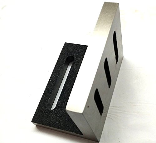 Precision Caste Iron Slotted Angle Plate 110 x 89 x 75 mm -Stress Relieved