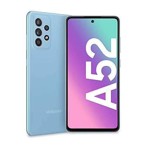 Samsung Galaxy A52 Smartphone, Display Infinity-O FHD+ da 6,5 pollici, 6 GB RAM e 128 GB di memoria interna espandibile, Batteria 4.500 mAh e ricarica Ultra-Rapida Blue [Versione Italiana]
