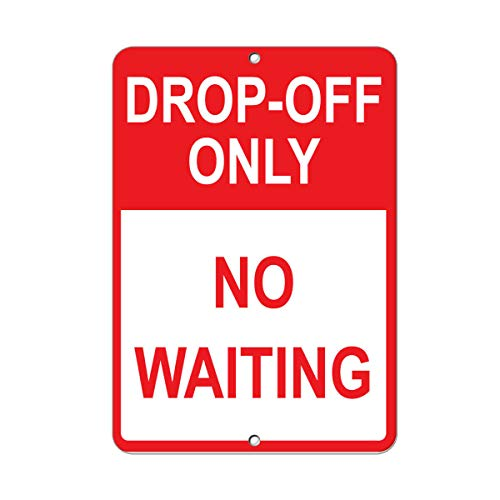 Vertical Metal Sign Multiple Sizes Drop off Only No Waiting Parking Home Wall Tin Sign 30x20cm Decoration