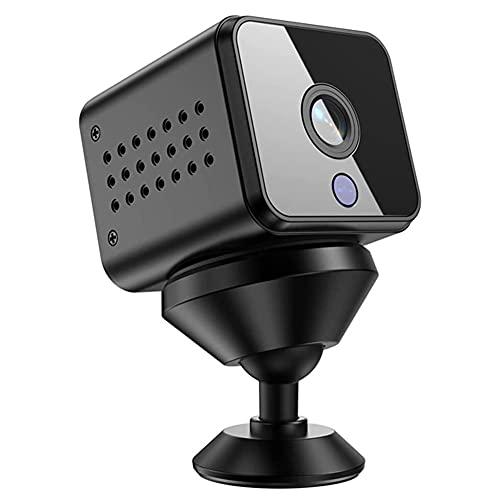 beijieaiguo WiFi sans Fil Mini caméra HD caméra Portable de Surveillance de sécurité pour l intérieur Maison Appartement Bureau Noir