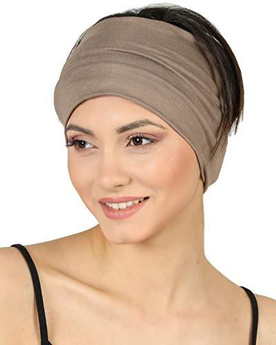Deresina Headwear Baumwolle Stirnband für Dammen Frauen (Mink - 2 pcs)