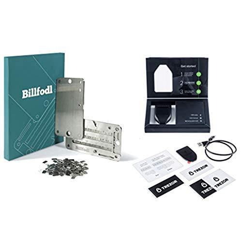 [BUNDLE] Trezor Model T + Crypto Wallet von Billfodl Hardware | Speichern Sie Ihre Bitcoin, Ethereum, ERC20 und mehr | Cold Seed Storage Steel Wallet + Offline Crypto Hardware Wallet | Krypto-Währung