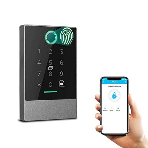 GTFHUH Lector de Control de Acceso a Prueba de Agua Puerta de la Puerta de Huellas Dactilares App Digital Bluetooth Bloquear Control de Largo Rango Puerta Exterior para Oficina