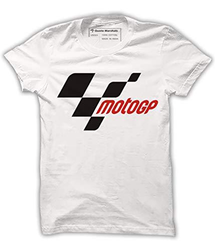 Quote Marshals MotoGP White Cotton T-Shirt for Men