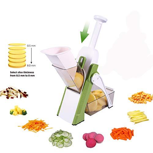 Gemüseschneider,Pommesschneider,Kartoffelschneider,ONCE FOR ALL Gemüsehobel,Julienner,Würfelschneider für die Küche