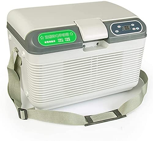 FCXBQ Refrigerador de Coche 12 litros Mini Nevera 12 / 24v / 220v Refrigerador de Coche Vehículo portátil Nevera de Camping Congelador Refrigerador eléctrico Caja de Coche Hogar de Doble Uso