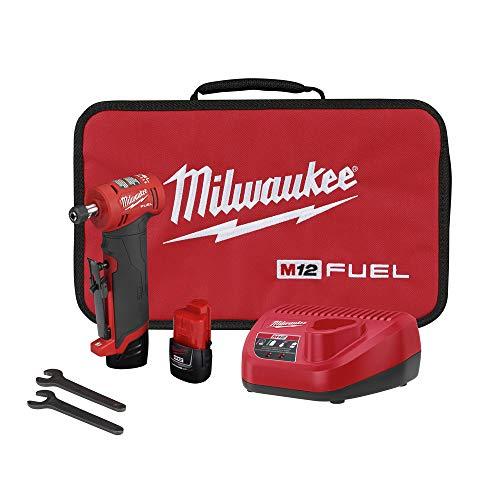 Milwaukee 2485-22 M12 FUEL Lithium-Ion Right Angle Die Grinder Kit (2 Ah)