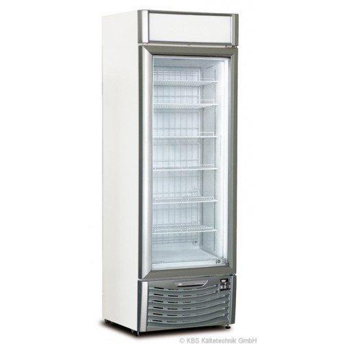 KBS Tiefkühlschrank TK 400 GDU - mit Glastür und Werbedisplay
