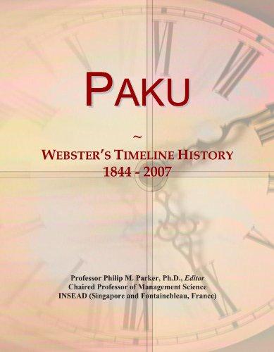 Paku: Webster's Timeline History, 1844 - 2007