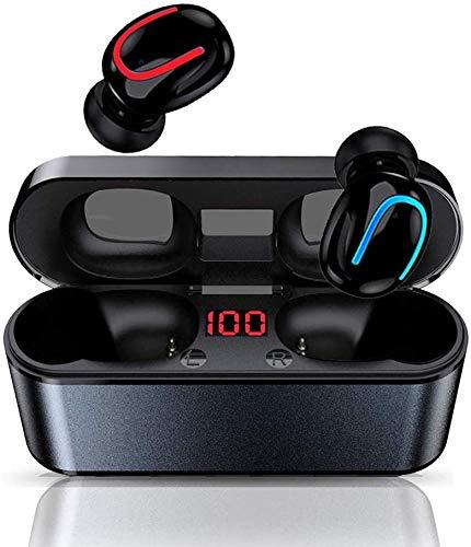 BIGFOX Auriculares inalámbricos Bluetooth 5.0,50H Playtime,Reducción del Ruido estéreo 3D,con Micrófono HiFi,IPX5 Impermeabile,para iPhone Xiaomi Samsung Huawei Android (Q68)