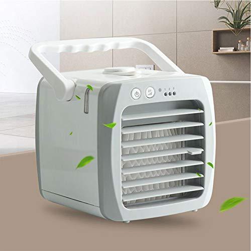 LCLLXB Acondicionador de evaporación portátil Mini ventilador de aire acondicionado para el hogar, dormitorio, oficina, dormitorio, coche, tienda de campaña