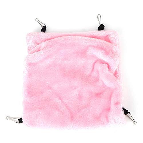 Hangende hangmat, roze hamster Eekhoorn Hangende hangmat Winter Warm Pet Nest Slaapbed Cave Cage Nest Hangende hangmat(L)