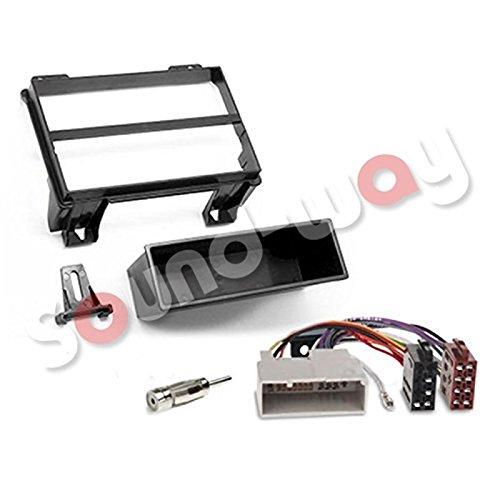 Sound-way 1 DIN Radiopaneel Frame Autoradio, Antenne Adapter, ISO Aansluitkabel, ondersteuning voor Ford Fiesta, Fusion