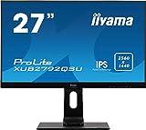 iiyama Prolite XUB2792QSU-B1 C 68,5cm (27') IPS LED-Monitor QHD (DVI, HDMI, DisplayPort, USB3.0, Ultra-Slim-Line, FreeSync, Höhenverstellung, Pivot) schwarz