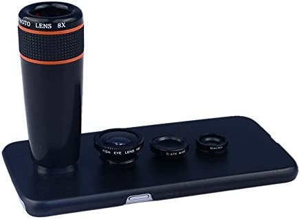 Apexel 4 in 1 Wide Angle Macro Lens Fisheye Lens 12x ABS Telephoto Lens with Back Case Cover product image