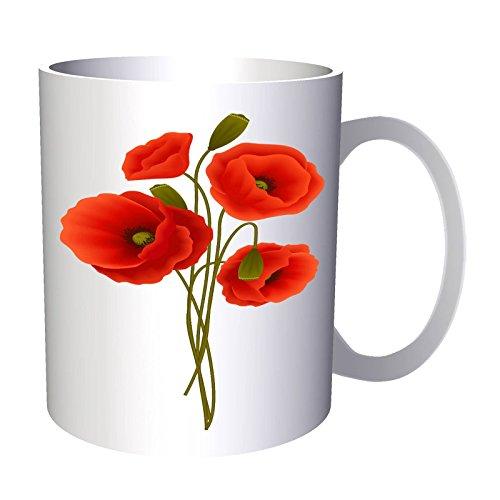 Dessin de fleur de coquelicot 33 cl Tasse v645