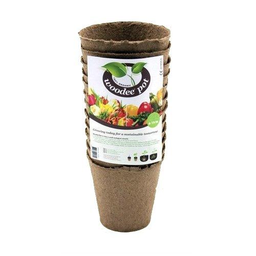 12x Pots en Fibre de Bois pour la Culture Woodee Pot (11cm)