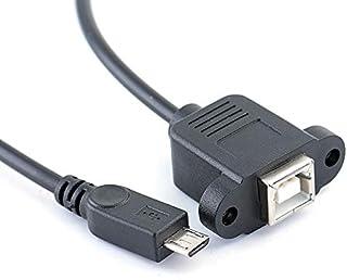 كابلات ووصلات الكمبيوتر - 1x حامل الطابعة USB 2.0 B أنثى مقبس إلى Micro USB 5 Pin Mále موصل CAable Cord 1FT/1.5FT (30 سم)