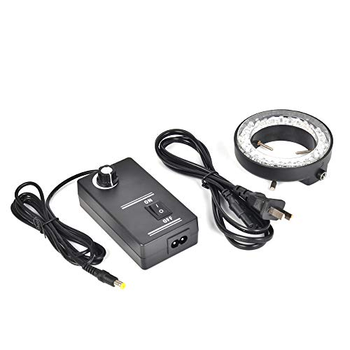 HAYEAR 60 LED Ring Light Illuminator Lamp for Trinocular Industry Stereo Microscope Digital Camera Magnifier with Power Adapter