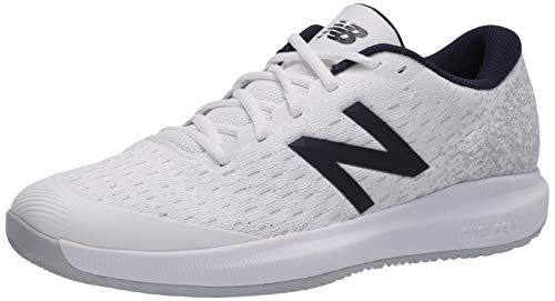New Balance Men's FuelCell 996 V4 Hard Court Tennis Shoe, White/Grey, 7 Wide US