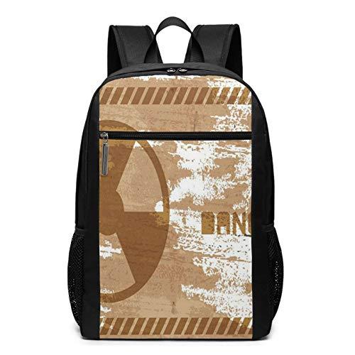 Schulrucksack Warnzeichen, Schultaschen Teenager Rucksack Schultasche Schulrucksäcke Backpack für Damen Herren Junge Mädchen 15,6 Zoll Notebook