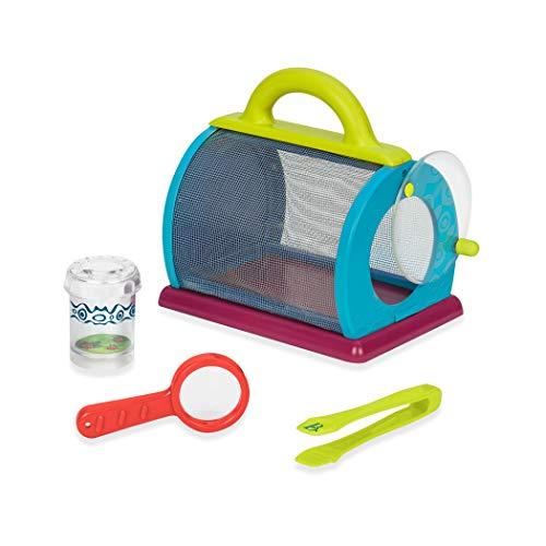 B. Toys Lupendose mit Insektenfänger, Lupe und große Pinzette – Forscher Set Outdoor, Spielzeug für Draußen, Garten, Wald – ab 3 Jahren (4 Teile)