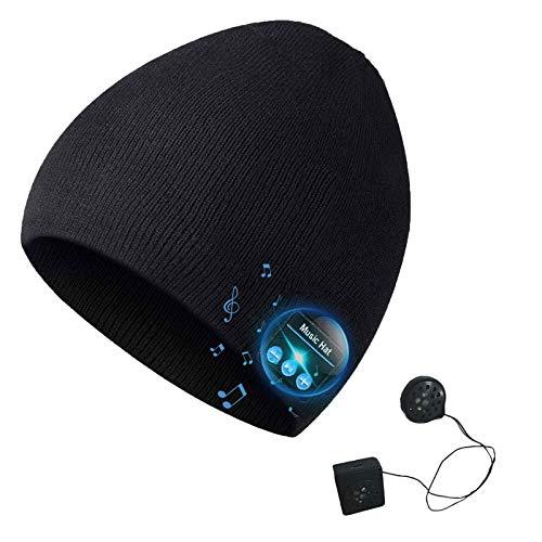 Fanzhou Gorro de Invierno con Bluetooth, Manos Libres con Auriculares Bluetooth, Altavoz...
