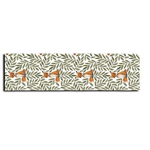 Fox and Leaves - Adhesivo antideslizante para monopatín, monopatín, monopatín, escaleras, pedal de 22 x 83 cm