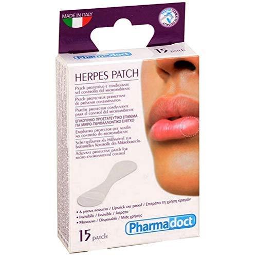 PHARMADOCT - Parche contra el herpes labial, 1 paquete de 15 apósitos