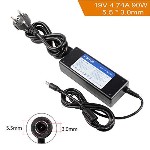 FSKE 90W 19V 4.74A Cargador Adaptador para Samsung NP300E5A NP350V5C R39 R410 R540 R20 R530 R522 R710 R580 R610 R520 RV510 R720 R700 R60 R45 Notebook EUR Power Supply,5.5 * 3.0mm