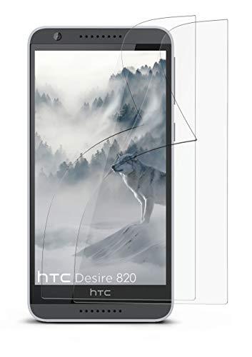 MoEx Anti Reflex Bildschirmschutzfolie kompatibel mit HTC Desire 820 | Schutzfolie Matt Bildschirm Folie gegen Reflexionen, flexibel, 2X Stück