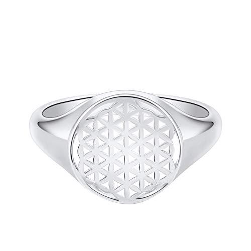 JO WISDOM damring, 925 sterling silver livs blomma orgon helig geometri familj amulett myntring,...