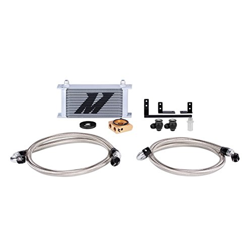 Mishimoto MMOC-MIA-16T Oil Cooler Kit Thermostatic Compatible With Mazda MX-5 Miata 2016-2018 Silver