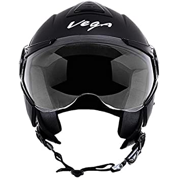 Vega Verve Open Face Helmet (Women's, Dull Black, S)