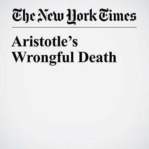 Aristotle's Wrongful Death copertina